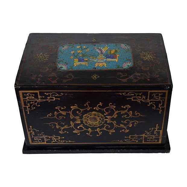 Antique Chinese Lacquer Box - Image 1 of 5