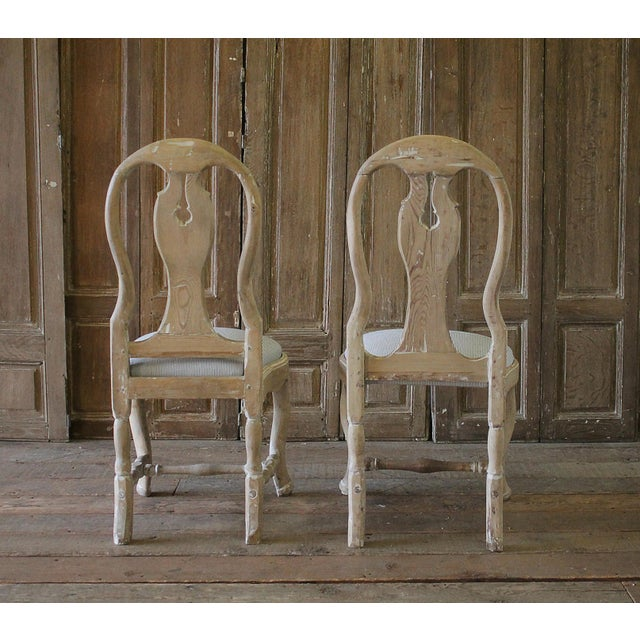 Late 18th Century Swedish Dining Room Chairs - a Pair For Sale - Image 5 of 6
