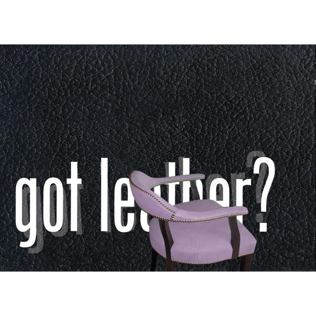 """Custom to Order """"The Color Hues"""" Collection Leather Chair For Sale - Image 9 of 9"""