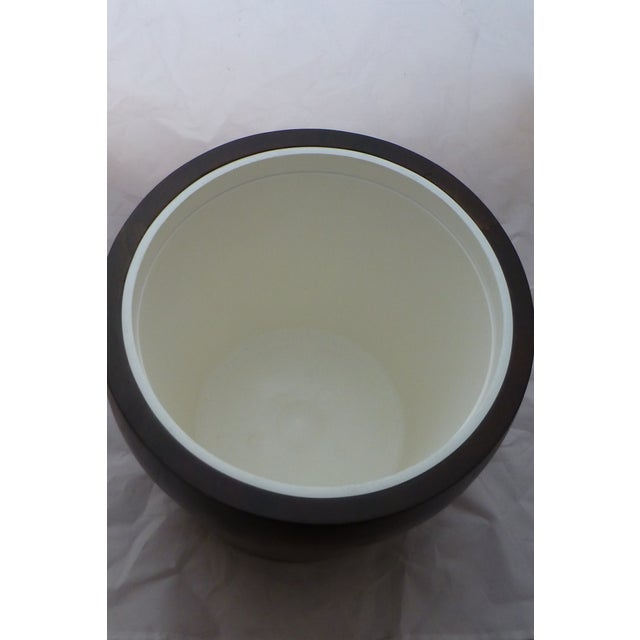 Mid Century Modern Large Walnut Ice Bucket For Sale - Image 4 of 7