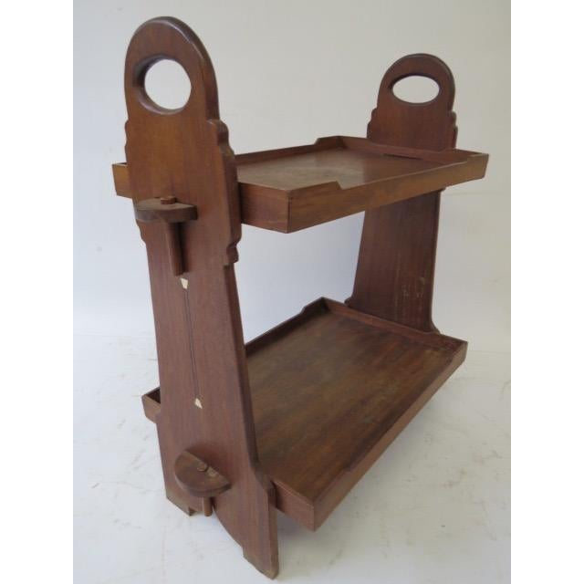 On Hold 1920s Trestle Side Table - Image 2 of 7