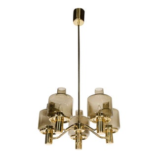 Sophisticated Mid-Century Modernist Chandelier by Hans Agne Jakobsson For Sale