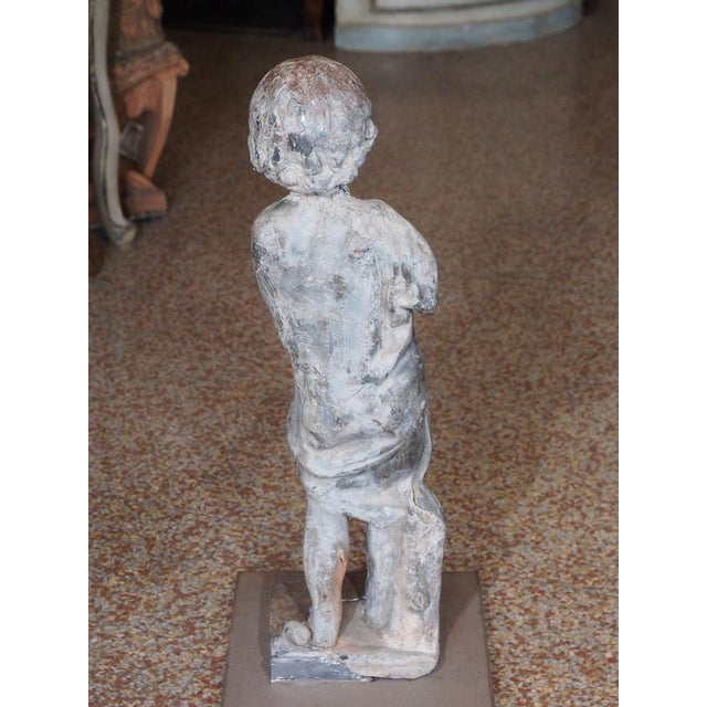 19th Century French Lead Statue of a Young Girl For Sale - Image 4 of 7