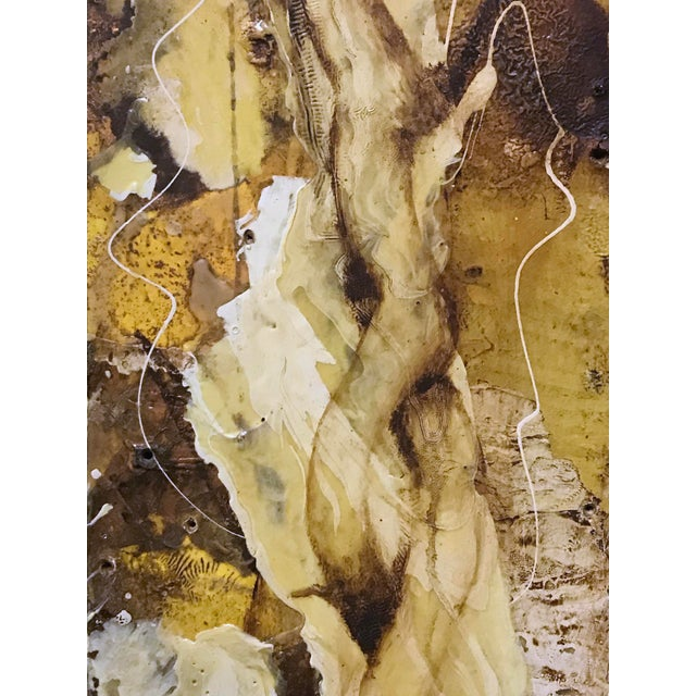 """White """"White Root"""" Abstract Expressionist Painting by David Geiser For Sale - Image 8 of 13"""