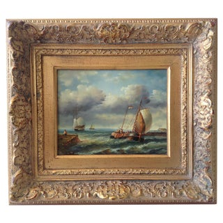 Homage 18th C. French Maritime Oil Painting II