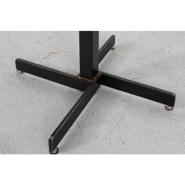 Black Les Arcs Adjustable Square Table by Charlotte Perriand For Sale - Image 8 of 11