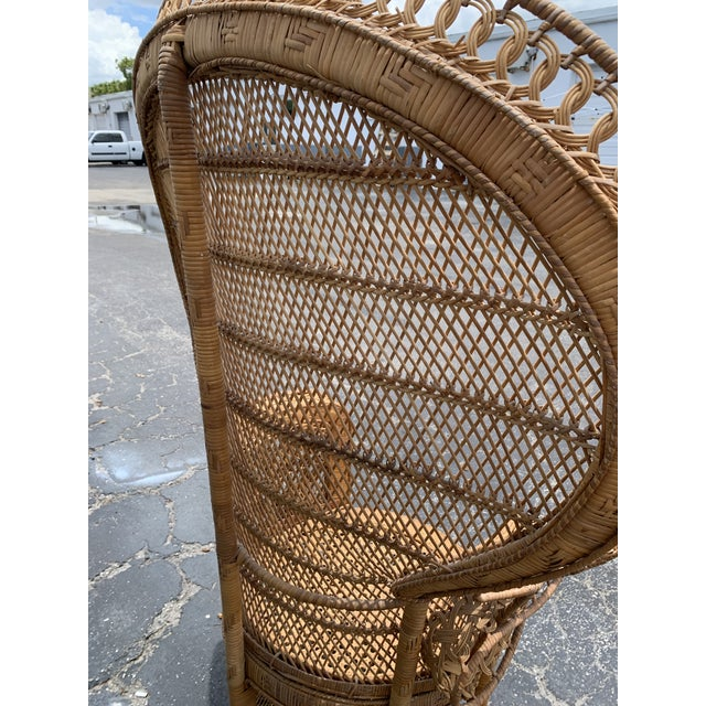 Vintage Wicker Peacock Chair For Sale - Image 4 of 12
