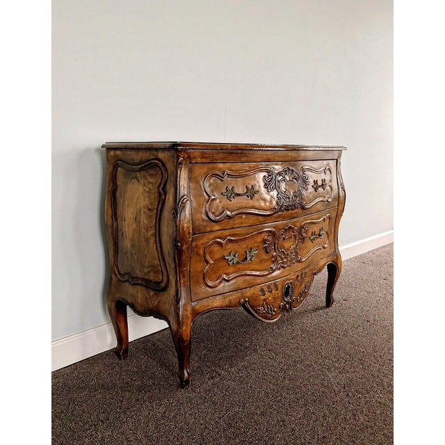Antique 18th Century Louis XV Provencal Bombe Chest For Sale - Image 9 of 13