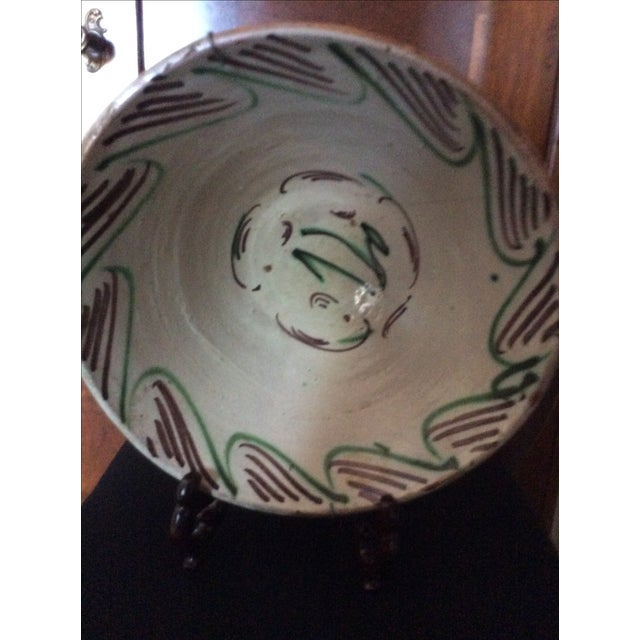 Mid 19th Century Antique Spanish Hand-Painted Bowl For Sale - Image 5 of 5