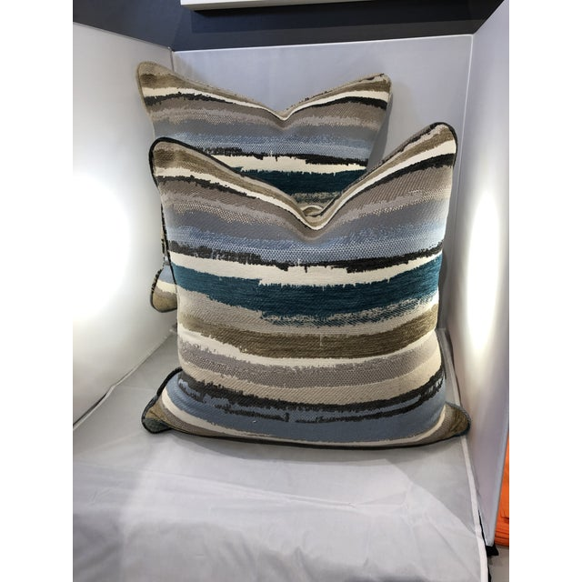 "19"" Robert Allen Abstract Pillows - a Pair For Sale - Image 9 of 9"