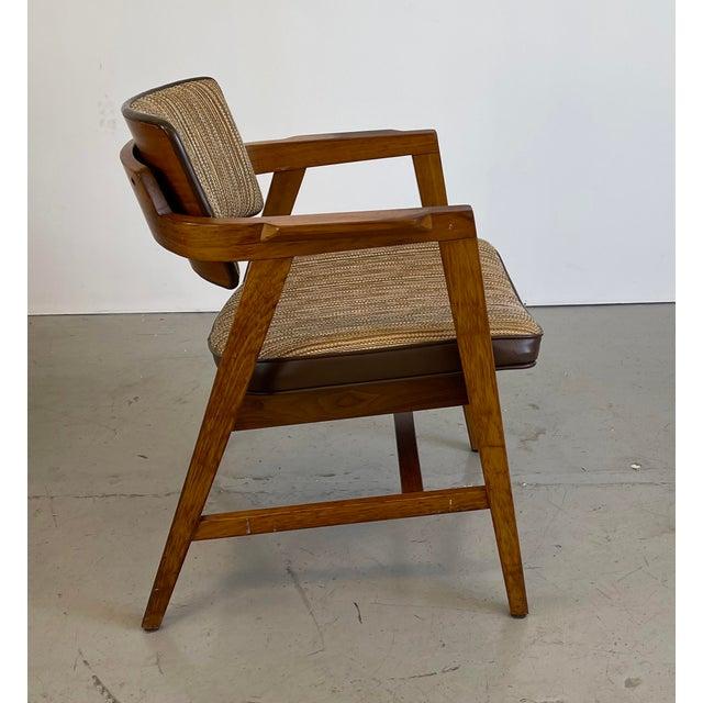 Mid-Century Modern Solid Walnut Chair by Gunlocke For Sale - Image 9 of 9