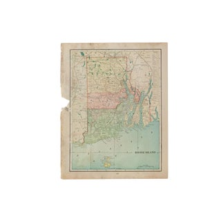 Cram's 1907 Map of Rhode Island For Sale
