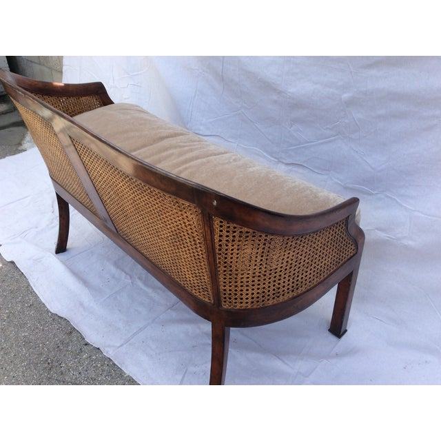 1900 - 1909 Traditional Mahogany and Cane Settee For Sale - Image 5 of 7