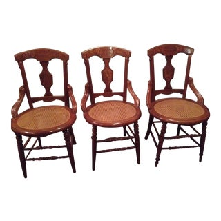 19th Century Victorian Dining Chair - Set of 3 For Sale