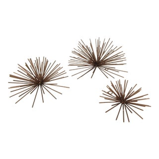 Sea Urchin Sputnik Style Wall Art - Set of 3 For Sale
