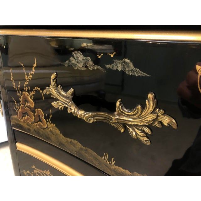 1970s Chinoiserie Lacquered 2-Drawer Chest For Sale - Image 11 of 13