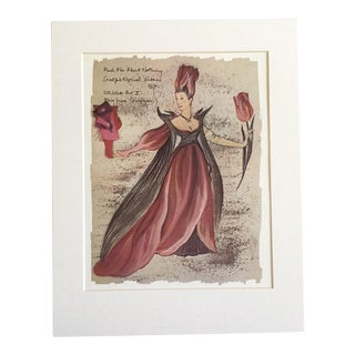 "Vintage Stratford Festival Design Folio, ""Ursula"" in Shakespeare's ""Much Ado About Nothing"" Costume Print For Sale"