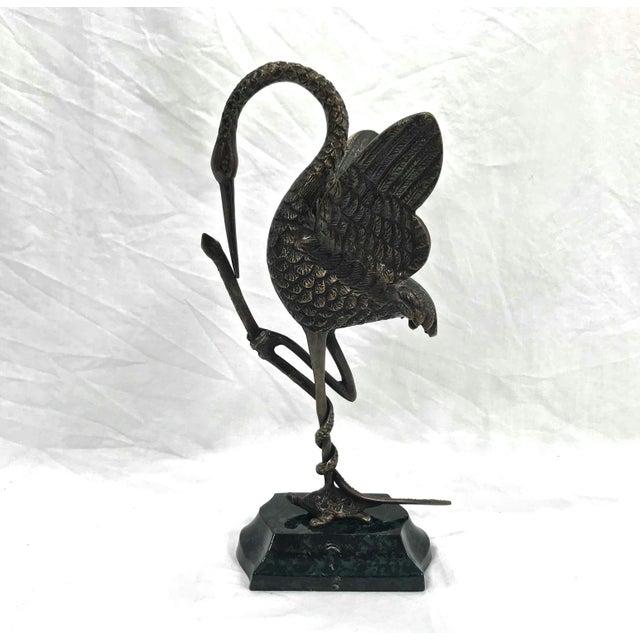 Asian Asian Brass Bird Sculpture For Sale - Image 3 of 8