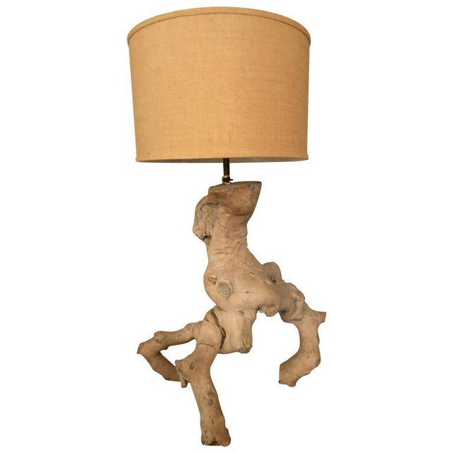 1960s Vintage Driftwood Lamp For Sale - Image 13 of 13