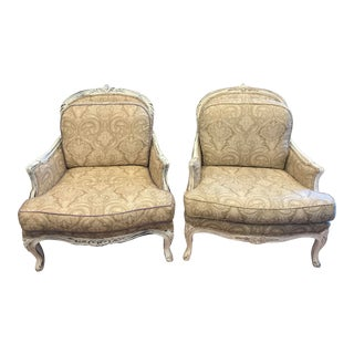 Pair of Large Scale Bergères For Sale