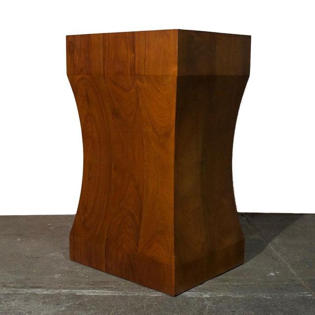 Wood Walnut Pedestal For Sale - Image 7 of 7