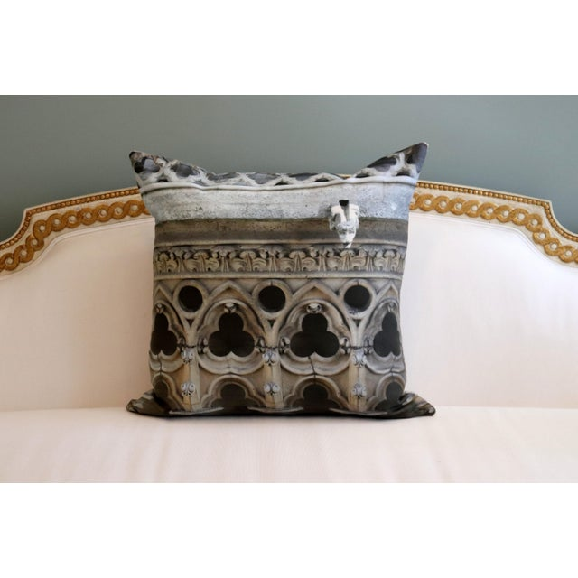 Architecture Notre Dame Exterior Photo Pillow For Sale - Image 6 of 12