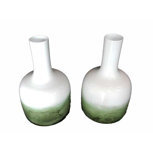 Celadon Chinese Glazed Vases - A Pair - Image 6 of 8