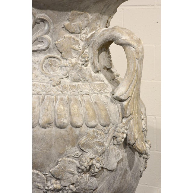 Pair of Grand Neoclassical-style Patio Urns - Image 8 of 10
