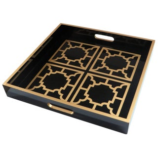 Manette Black Lacquer Tray
