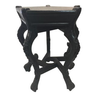 Antique Carved Chinese Plant Stand For Sale