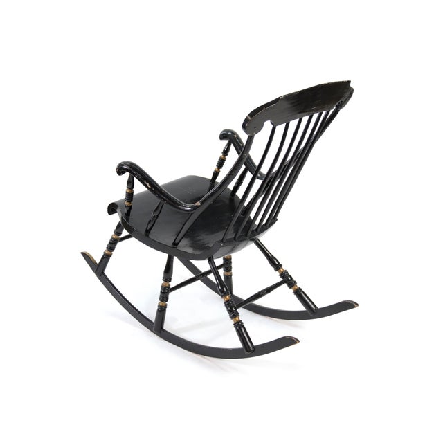 19th Century Vintage Swedish Gungstol Rocking Chair For Sale - Image 4 of 12