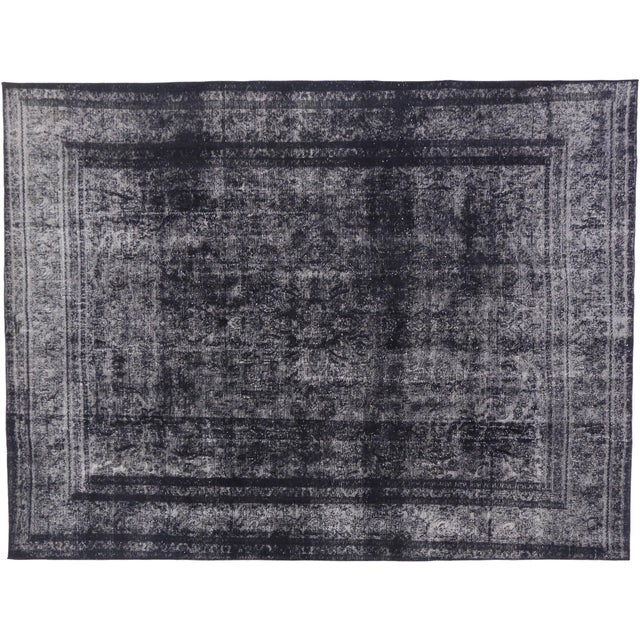 Textile Vintage Turkish Rug With Industrial Luxe Style - 09'05 X 12'04 For Sale - Image 7 of 7