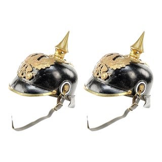 Two 19th Century Austrian Parade Pickle Helmets For Sale
