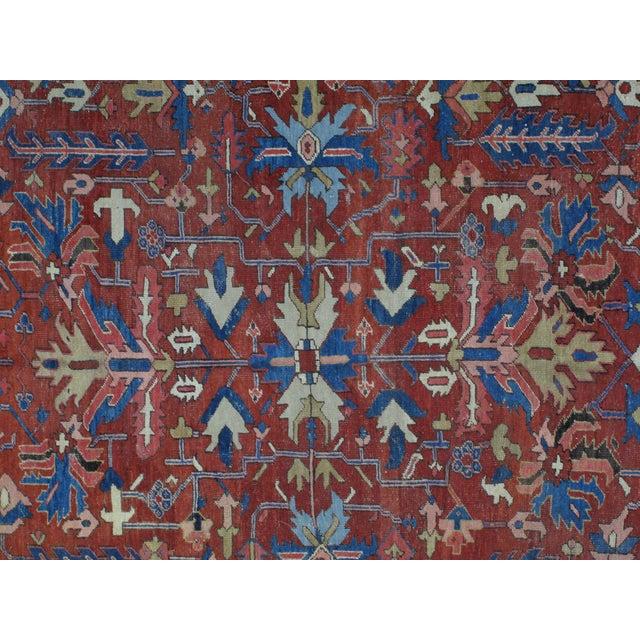 "Leon Banilivi Antique Persian Serapi Carpet - 9"" X 11'7"" For Sale - Image 4 of 6"