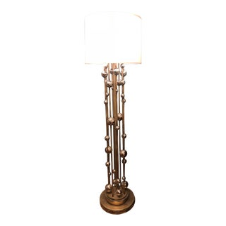 Vintage Chrome Ball Floor Lamp For Sale
