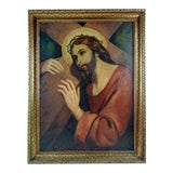 Image of Circa 1930's Painting of Jesus For Sale