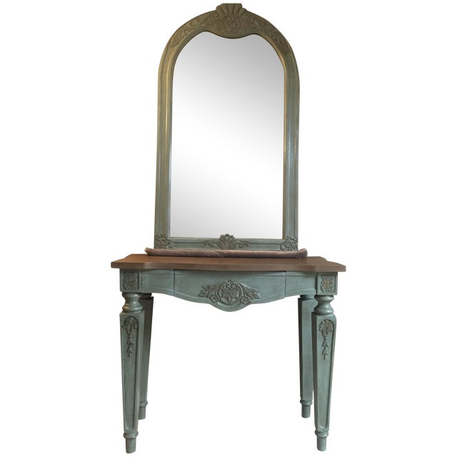 Vintage Console Table and Mirror - Image 1 of 8