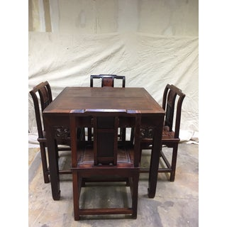 Late 19th Century Antique Chinese Gaming Table & Chairs- 5 Pieces Preview