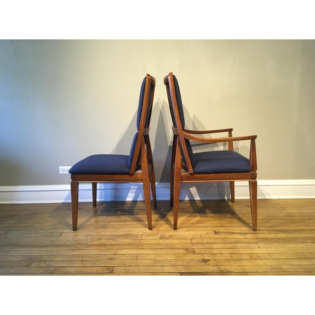 Kroehler Mid-Century Walnut Kroehler Dining Chairs - Set of 6 For Sale - Image 4 of 10