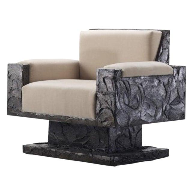 Paul Evans Studio Sculpted Bronze Armchair For Sale
