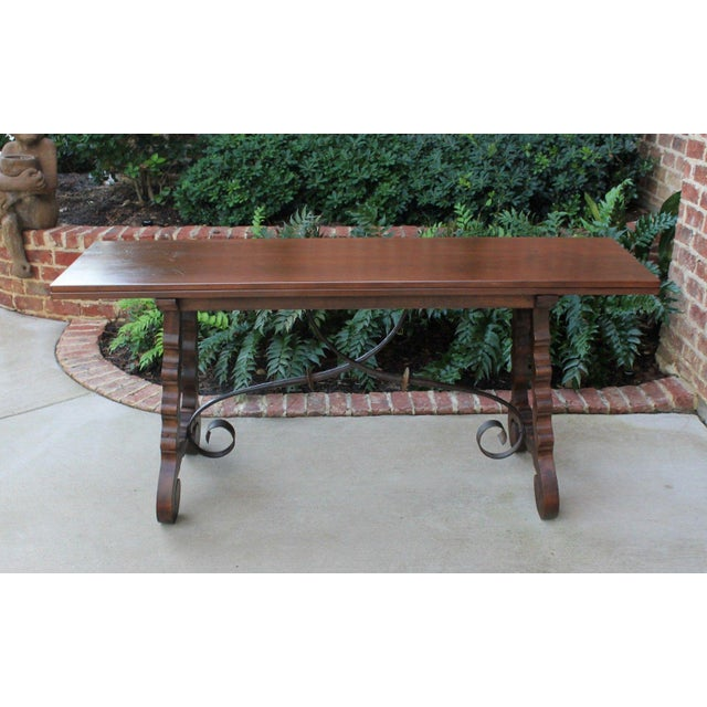 Antique French Spanish Walnut Mission Catalan Dining Table Sofa Table For Sale - Image 13 of 13