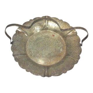 Art Deco Silverplate Handled Bon Bon Dish For Sale