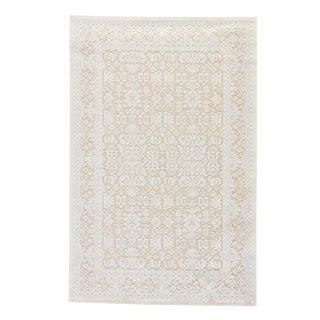 Jaipur Living Regal Damask Beige/ Blue Area Rug - 5′ × 7′6″ For Sale