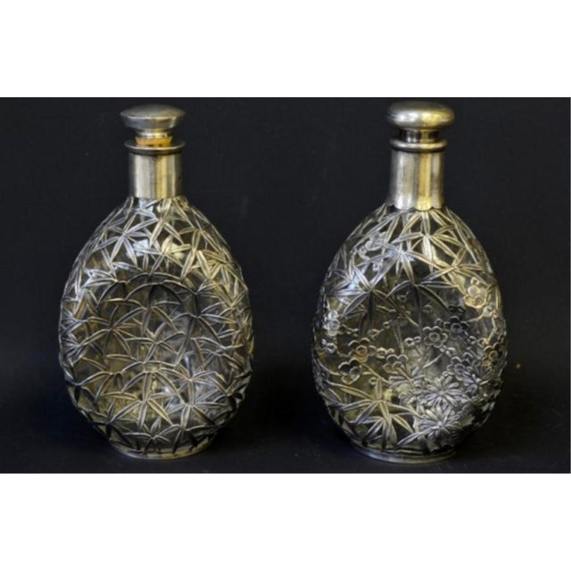 Silver Overlay Pinch Decanters - A Pair - Image 6 of 7