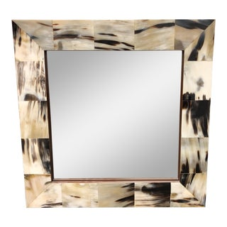 Horn Clad Square Wall Mirror