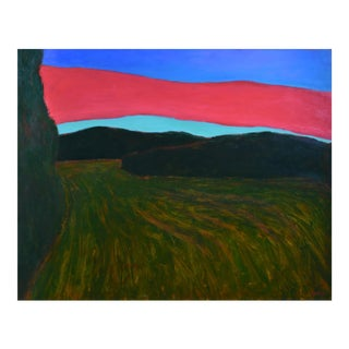 "Contemporary Large Painting, ""Sunset Over Tilled Fields"", by Stephen Remick For Sale"