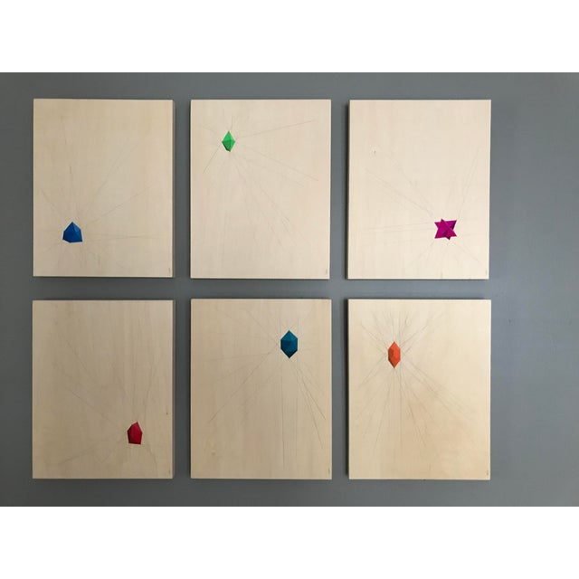 Geometric Abstract Paintings - Set of 6 - Image 10 of 10