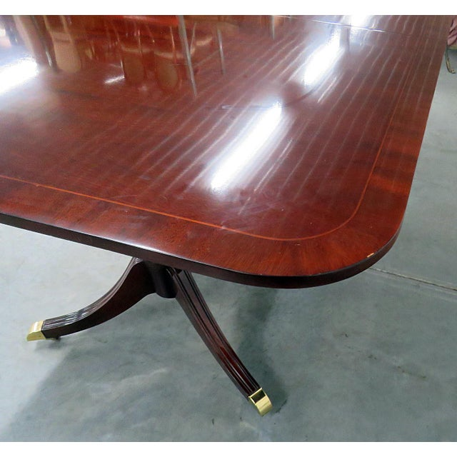 Kindel Georgian Style Mahogany Dining Room Table For Sale In Philadelphia - Image 6 of 13