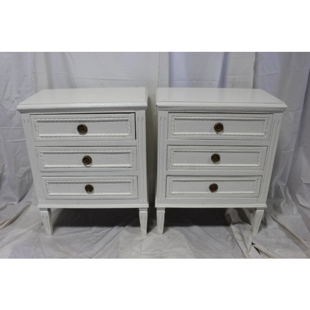 20h Century Gustavian Dove Wing Bedside Chests - a Pair For Sale - Image 9 of 9