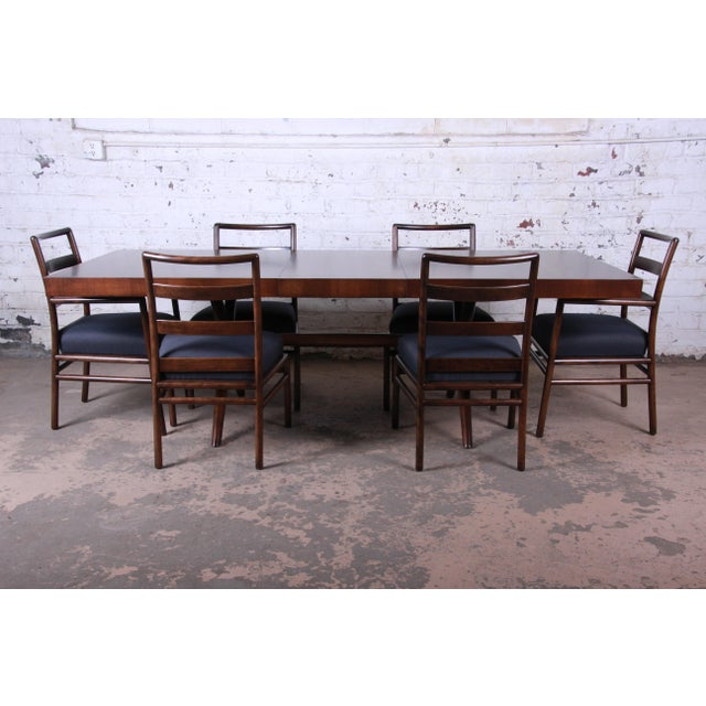 Robsjohn Gibbings for Widdicomb X-Base Walnut Dining Table, Newly Restored For Sale - Image 9 of 11